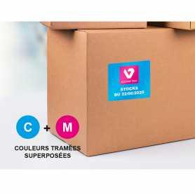 Etiquettes 1-2 couleurs adhésif renforcé vernis brillant