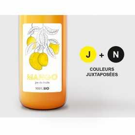 Etiquettes 1-2 couleurs adhésif permanent vernis brillant