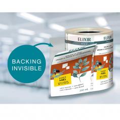 Etiquettes Quadri Dorsal transparent Pelliculage mat