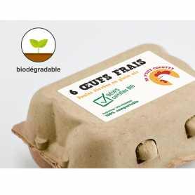Etiquettes biodégradables Papier couché Blanc
