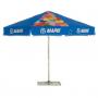 Round advertising umbrellas