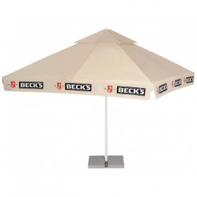 Square advertising umbrellas