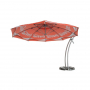Deported advertising umbrellas