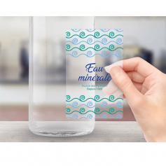 Etiquettes transparentes adhésif enlevable PELLICULAGE MAT