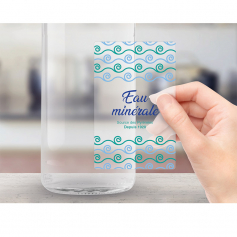 Etiquettes transparentes adhésif permanent PELLICULAGE MAT