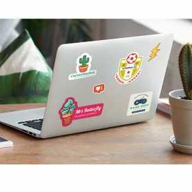 Stickers publicitaires Polyester blanc adhésif renforcé