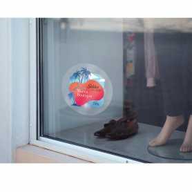 Etiquettes Vitrophanies Film transparent adhésif enlevable