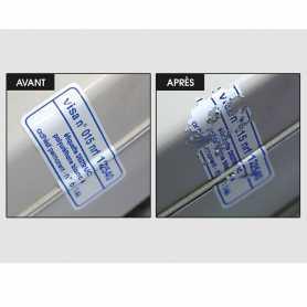 Etiquettes DESTRUCT Polyuréthane 3M 1 couleur