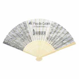 Eventail personnalisable en bambou et tissu