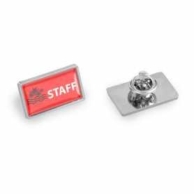Pin's personnalisable zamac rectangle