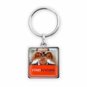 Porte-clés personnalisable zamac forme carrée