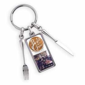 Porte-clés personnalisée zamac restaurant