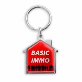Porte-clés personnalisable zamac forme maison