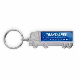 Porte-clés publicitaire zamac forme camion
