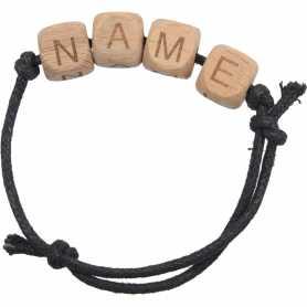 Bracelet personnalisable alphabet bois