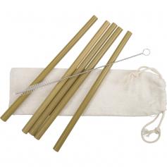 Paille publicitaire en bambou