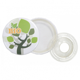 Badge bouton personnalisé biodégradable made in Europe