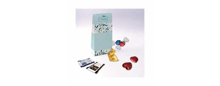 Scatola a soffietto - Personalizzata con cioccolatini Lindt