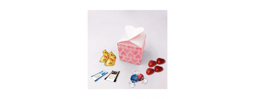 Caixa de coração - personalizada com chocolates Lindt