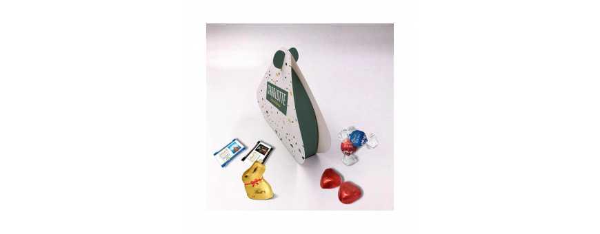 Caja Perle - Personalizada con Chocolates Lindt