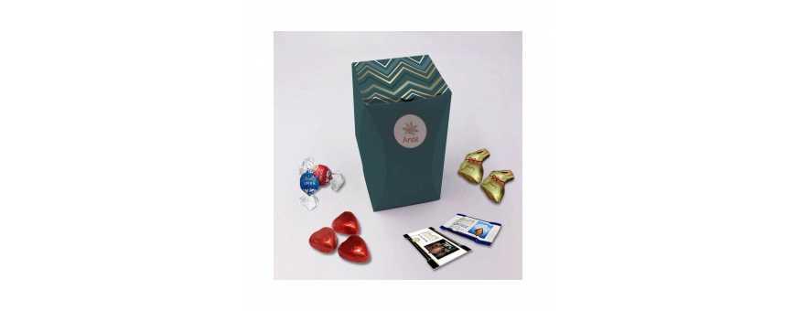 Caja rectangular premium: personalizada con chocolates Lindt