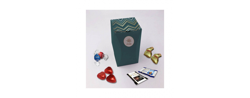 Premium Rectangle Box - Personalized with Lindt Chocolates