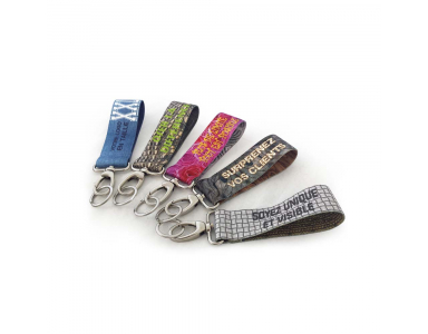 Close-up of the personalized Keyrings designed at Abcprint.Shop